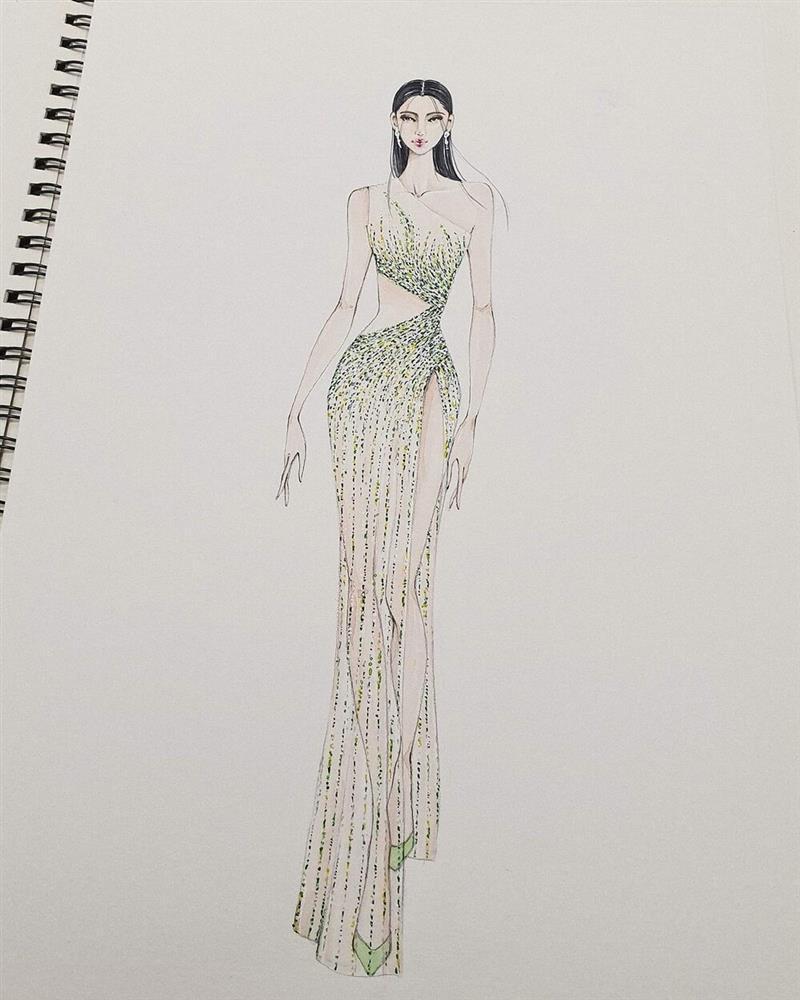 Hé lộ đầm dạ hội Khánh Vân chặt chém ở bán kết Miss Universe-8