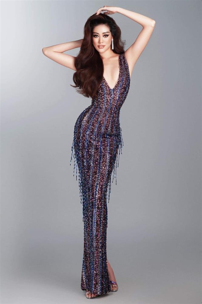 Hé lộ đầm dạ hội Khánh Vân chặt chém ở bán kết Miss Universe-9