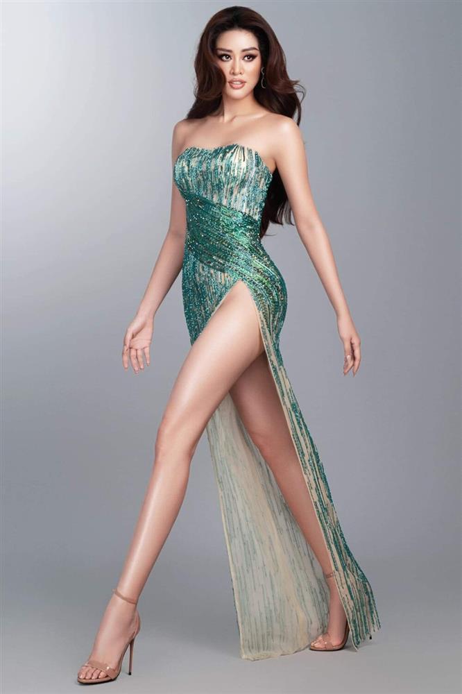 Hé lộ đầm dạ hội Khánh Vân chặt chém ở bán kết Miss Universe-10