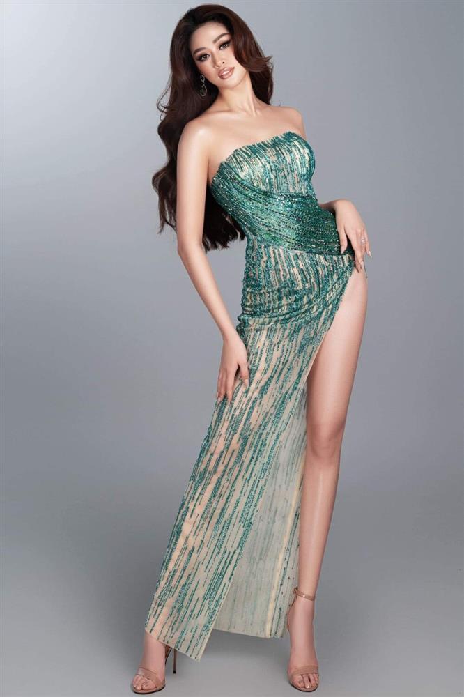Hé lộ đầm dạ hội Khánh Vân chặt chém ở bán kết Miss Universe-11