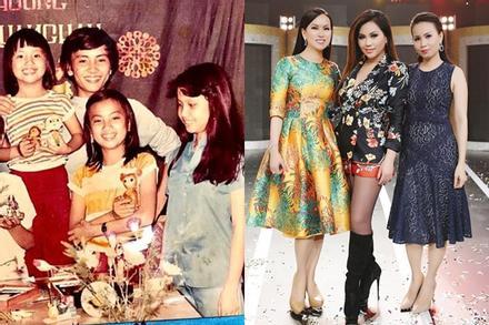 Ảnh hiếm của bộ 3 chị em tỷ phú đình đám showbiz Việt