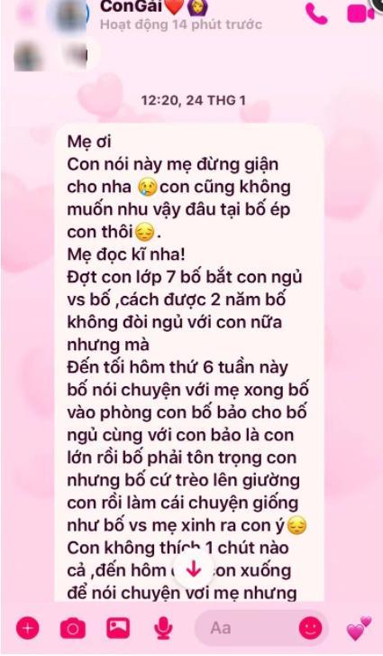 Tin nhắn đẫm nước mắt gửi mẹ của nữ sinh Phú Thọ bị bố ruột hãm hiếp-2