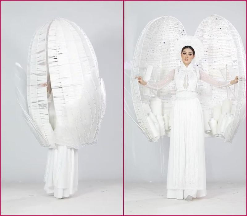 Khánh Vân bầm dập vì Quốc phục Kén Em khiến fan lo cho đêm chung kết Miss Universe-3