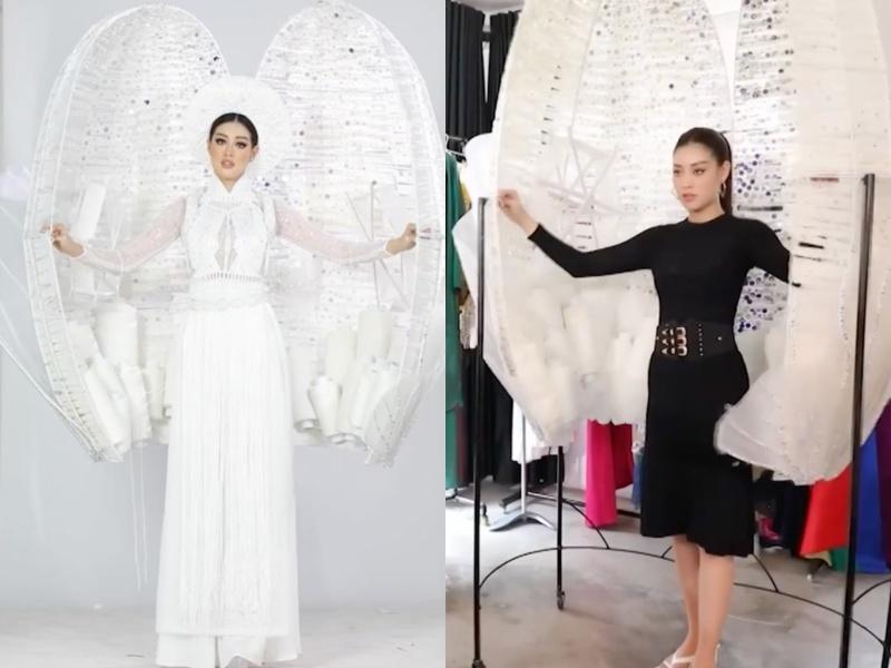 Khánh Vân bầm dập vì Quốc phục Kén Em khiến fan lo cho đêm chung kết Miss Universe-4