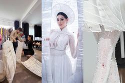 Khánh Vân bầm dập vì Quốc phục 'Kén Em' khiến fan lo cho đêm chung kết Miss Universe