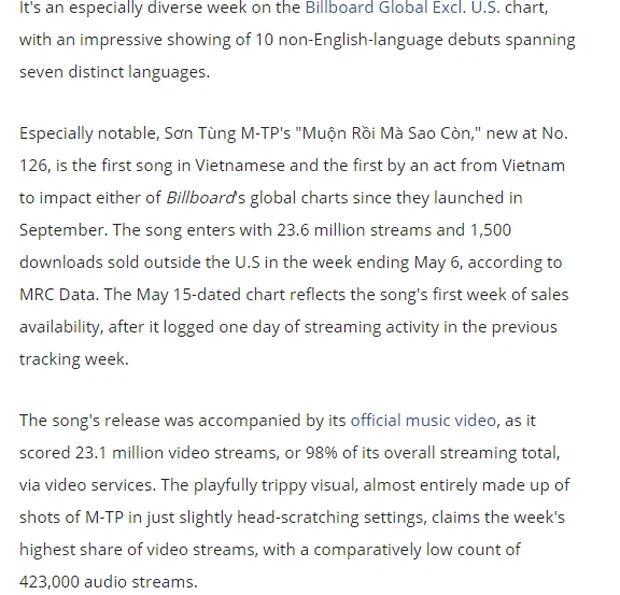 Fan Việt phổng mũi tự hào khi Sơn Tùng M-TP được khen trên trang chủ Billboard-4