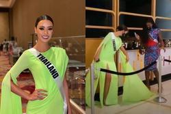 Ứng viên vương miện Miss Universe 2020 bị đối thủ đạp rách váy hiệu