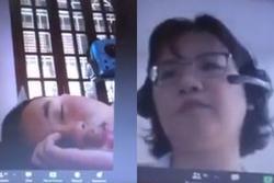 Đang học online trò nằm dài ra ngủ, cô giáo có màn xử lý siêu lầy