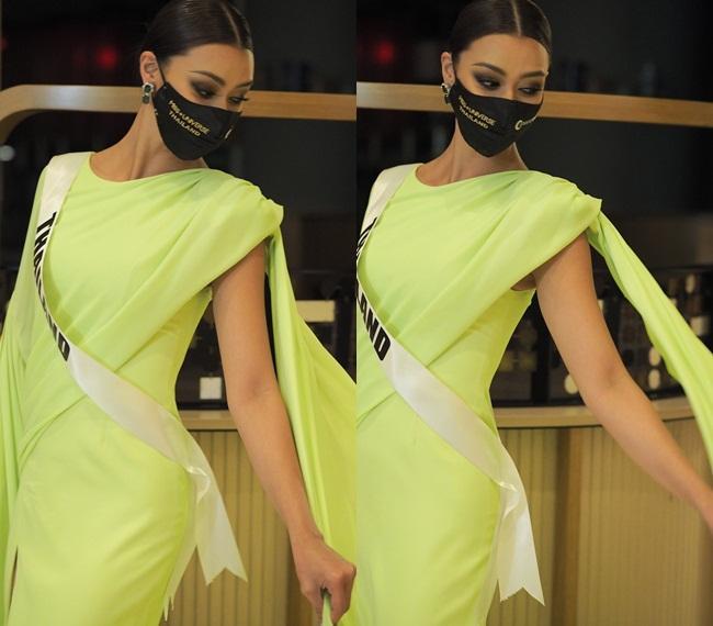 Ứng viên vương miện Miss Universe 2020 bị đối thủ đạp rách váy hiệu-5