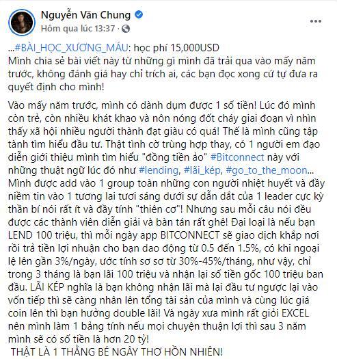 Sập bẫy tiền ảo, nhạc sĩ Nguyễn Văn Chung cay đắng: Đừng chơi-4