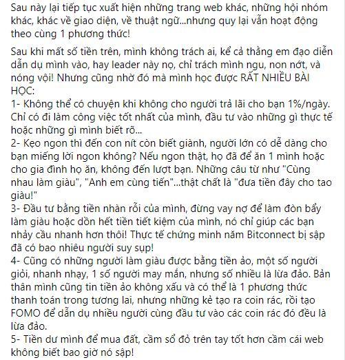 Sập bẫy tiền ảo, nhạc sĩ Nguyễn Văn Chung cay đắng: Đừng chơi-6