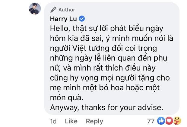 Harry Lu xin lỗi về phát ngôn Việt Nam theo chế độ mẫu hệ-2