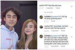 Antifan vừa 'khịa' Đạt G lập tức bị Cindy Lư đuổi cổ: 'Không thích đừng follow'