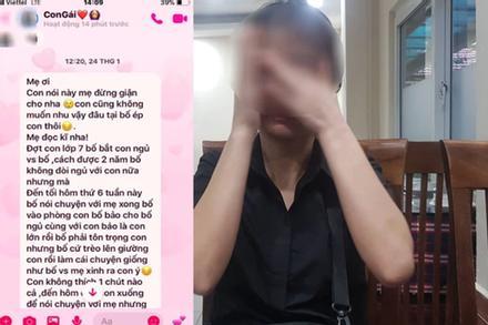 Vụ con gái bị cha hiếp dâm ở Phú Thọ: Lộ tin nhắn cầu xin tha thứ của người cha