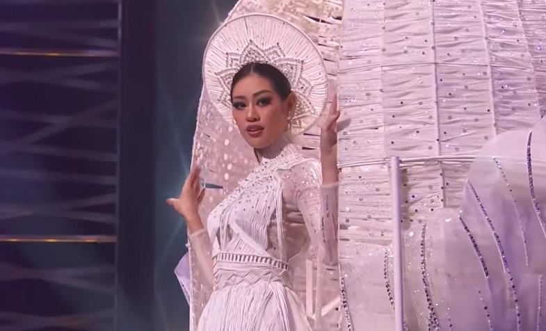 Khánh Vân diễn quốc phục Kén Em xuất sắc tại Miss Universe 2020-4