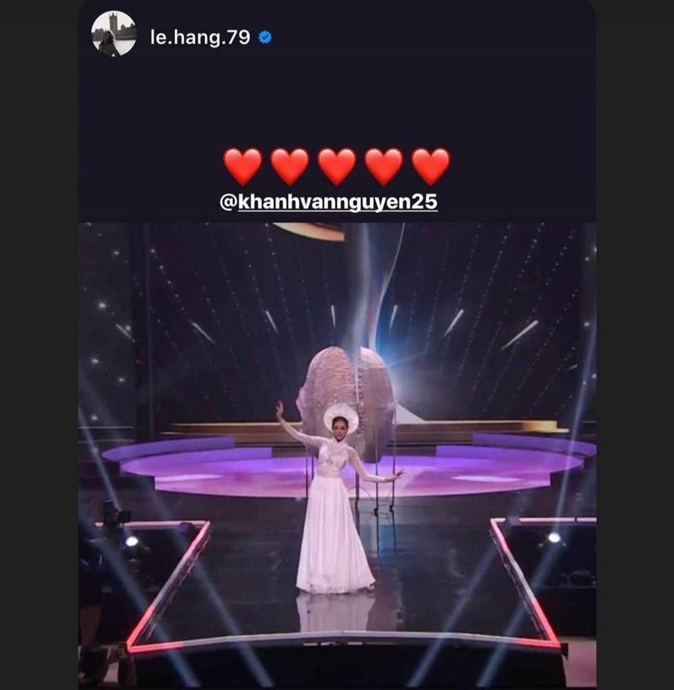 Sao Việt nổi da gà khi xem Khánh Vân thi quốc phục Miss Universe 2020-11