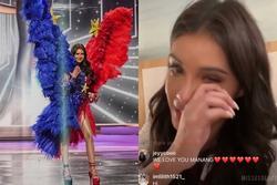 Hoa hậu Philippines khóc nấc xin lỗi vì phần thi Quốc phục 'chán đời'