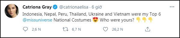 Miss Universe Catriona Gray bị chỉ trích vì loại thẳng quốc phục Philippines-1