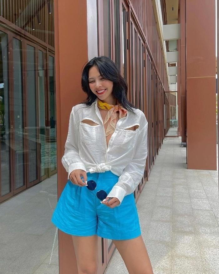 Hà Hồ - Kỳ Duyên diện quần shorts sành điệu, các nàng học ngay chỉ có đẹp hết ý!-5