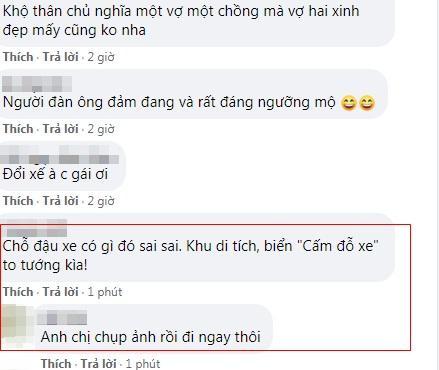 Tranh cãi vợ chồng MC Hoàng Linh hồn nhiên lau chùi xe nơi chốn tâm linh-6