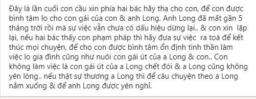 Linh Lan cầu xin bố mẹ Vân Quang Long: Tha cho con-7