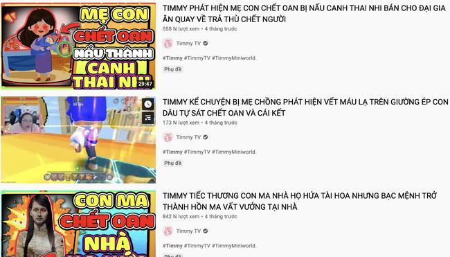 Sợ hãi kênh YouTube trẻ em toàn anh giết em, mẹ chết oan, hồn ma báo oán-2