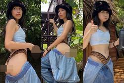 Con gái diva Mỹ Linh gây sốc khi tụt quần khoe vòng 3 trước ống kính