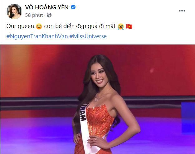 Khánh Vân thi bán kết Miss Universe 2020, dàn sao Việt dậy sóng-6