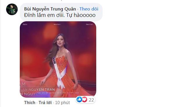 Khánh Vân thi bán kết Miss Universe 2020, dàn sao Việt dậy sóng-10