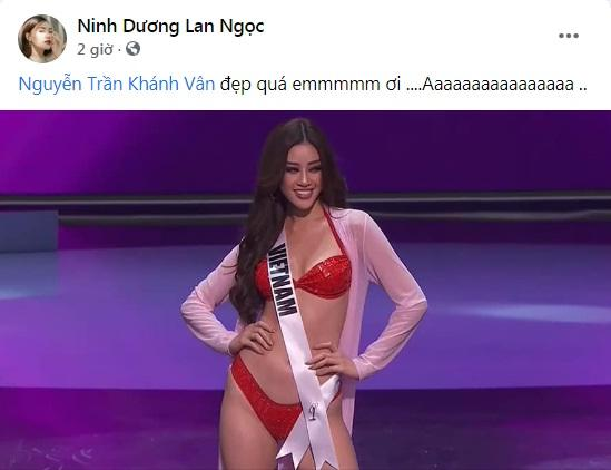 Khánh Vân thi bán kết Miss Universe 2020, dàn sao Việt dậy sóng-11