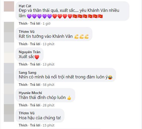 Khánh Vân thi bán kết Miss Universe 2020, dàn sao Việt dậy sóng-19