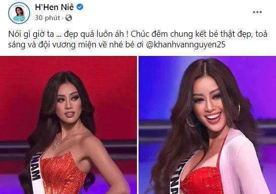 Khánh Vân thi bán kết Miss Universe 2020, dàn sao Việt dậy sóng-12