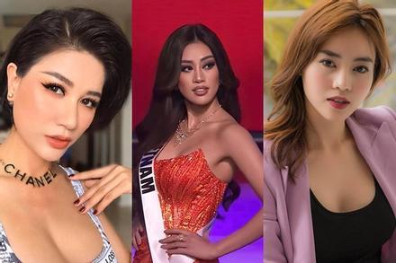 Khánh Vân thi bán kết Miss Universe 2020, dàn sao Việt dậy sóng