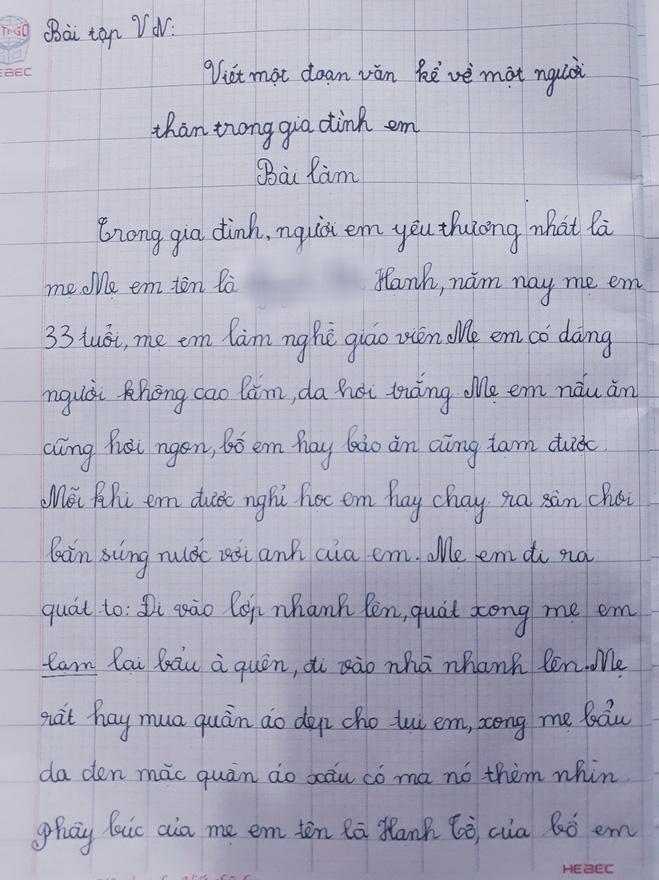 Nhóc tiểu học làm văn bóc phốt mẹ, đọc câu chốt mới hiếm có khó tìm-5