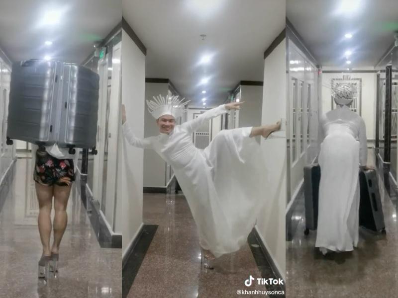 Quốc phục Kén Em của Khánh Vân ở Miss Universe bị nhái phản cảm-2