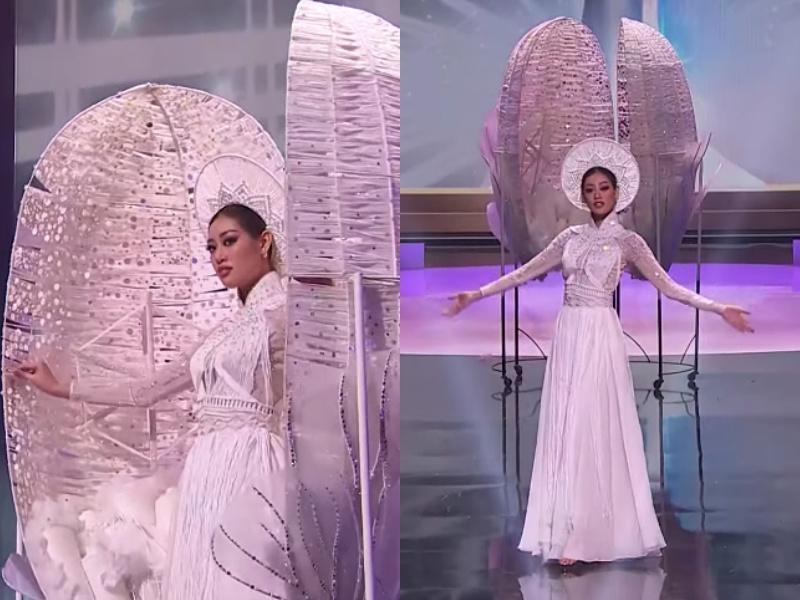 Quốc phục Kén Em của Khánh Vân ở Miss Universe bị nhái phản cảm-5