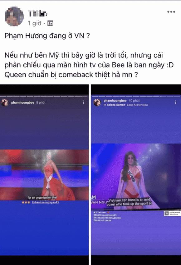 Phạm Hương bị netizen soi ra chuyện đang ở Việt Nam qua story ủng hộ Khánh Vân-1