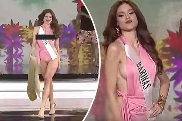 Những pha lộ hàng kém duyên của thí sinh Hoa hậu trên đấu trường nhan sắc-7