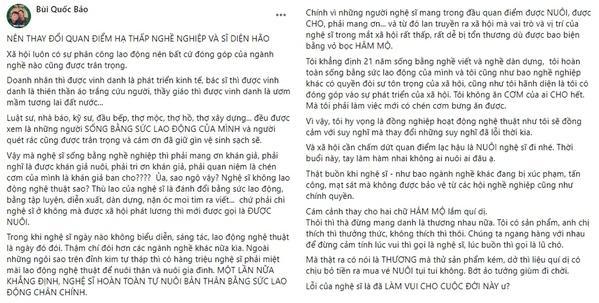 Sao Việt tranh luận nảy lửa phát ngôn khán giả không nuôi nghệ sĩ-1