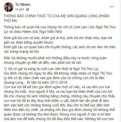 Bố mẹ Vân Quang Long trăn trở thân thế con gái Linh Lan-4