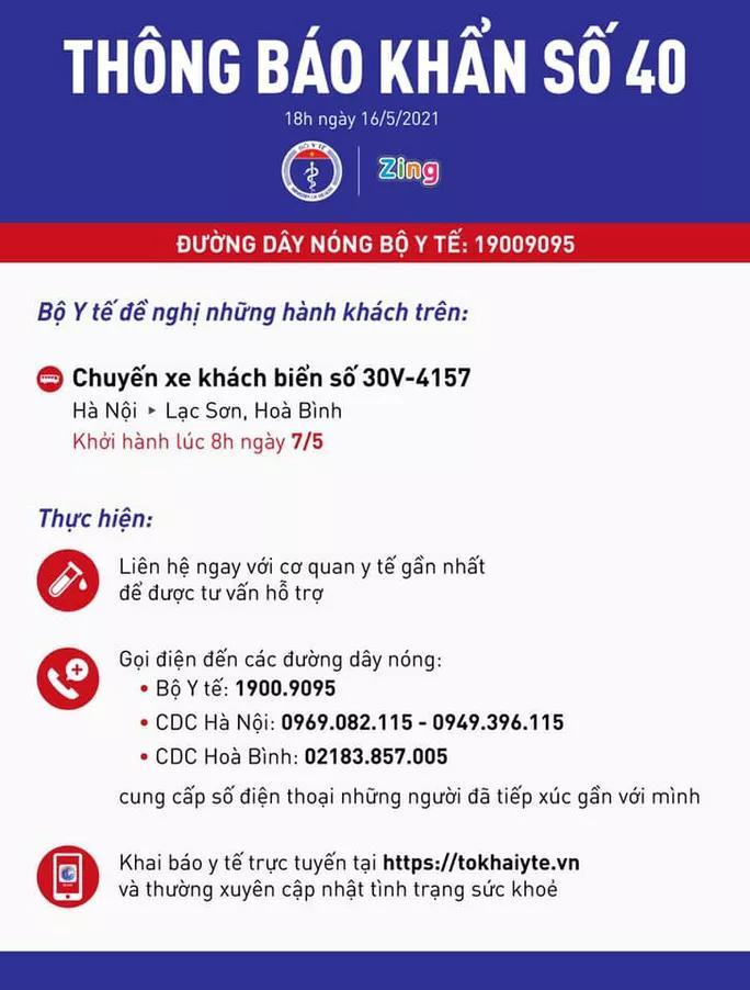 KHẨN: Tìm người đi chuyến xe khách Hà Nội - Lạc Sơn, Hoà Bình-1