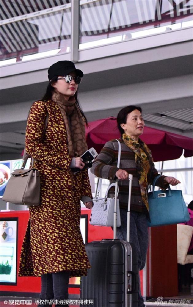 Phạm Băng Băng bị chỉ trích vì để mẹ đẩy xe hành lý-6