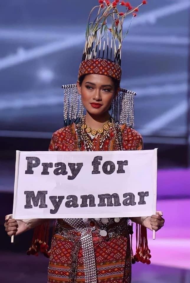 Hoa hậu Myanmar đoạt Best Costume nhờ lời cầu cứu khi mất Quốc phục-2