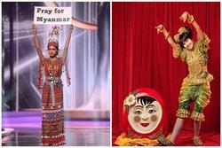 Hoa hậu Myanmar đoạt Best Costume nhờ 'lời cầu cứu' khi mất Quốc phục