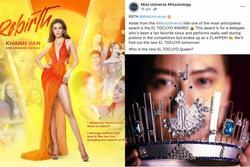Rộ tin Khánh Vân out top Miss Universe 2020 vì bị 'trù ẻo' đoạt giải 'Miss El Tocuyo'