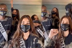 Khoảnh khắc cuối Khánh Vân 'zẩy đầm' cùng hội chị em Miss Universe 2020