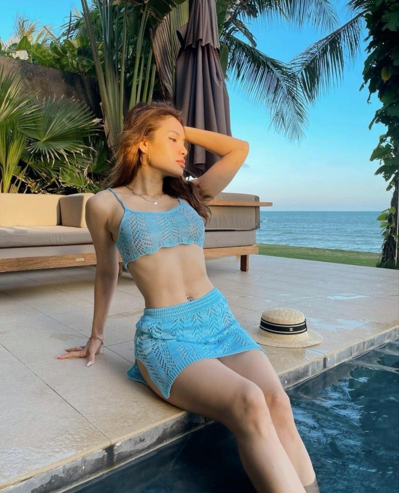 Ninh Dương Lan Ngọc xử lý siêu lầy khi lộ ngấn mỡ với bikini len móc-6
