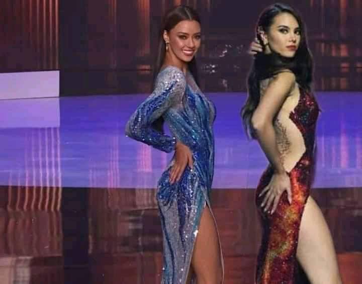 Hoa hậu Thái Lan bị khịa bắt chước lava catwalk của Catriona - Miss Universe 2018-3