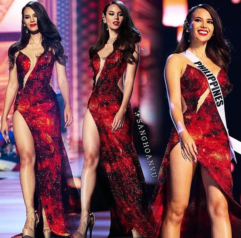 Hoa hậu Thái Lan bị khịa bắt chước lava catwalk của Catriona - Miss Universe 2018-7