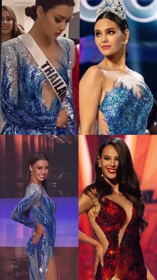 Hoa hậu Thái Lan bị khịa bắt chước lava catwalk của Catriona - Miss Universe 2018-4